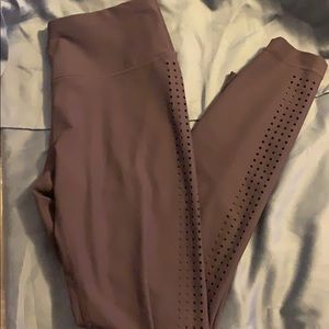 High waisted yoga pants with side details